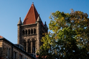 Altgeld Hall in early fall.