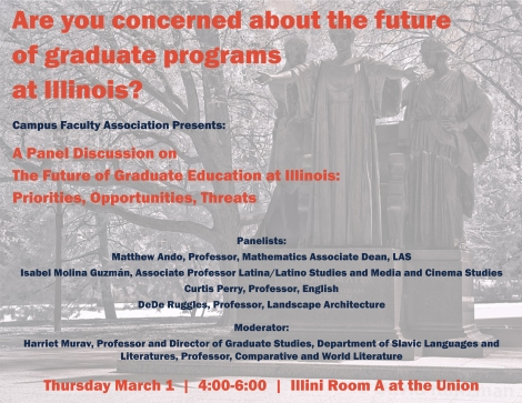 Are you concerned about the future of graduate programs at Illinois 3